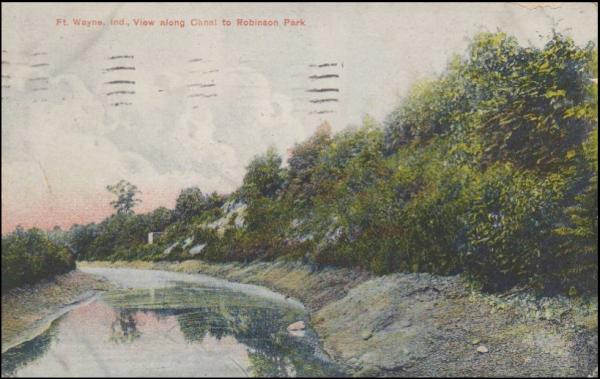 Wabash & Erie Canal St. Joseph Feeder near dam at Robison Park, Ft. Wayne, Indiana